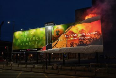 BBC Burn Billboard For 'A Perfect Planet'